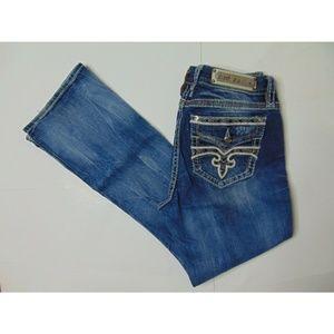 Rock Revival 31 Shana Easy Boot Blue Jeans Denim